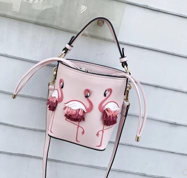 De Flamingo Han Unique Fée Épaule Beige Le Femelle Sac Seau rose Louche 2018new Édition Zw4YFAcYq