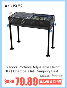 Picnic Vertical BBQ Charcoal Grill Stainless Removable Smokeless ...
