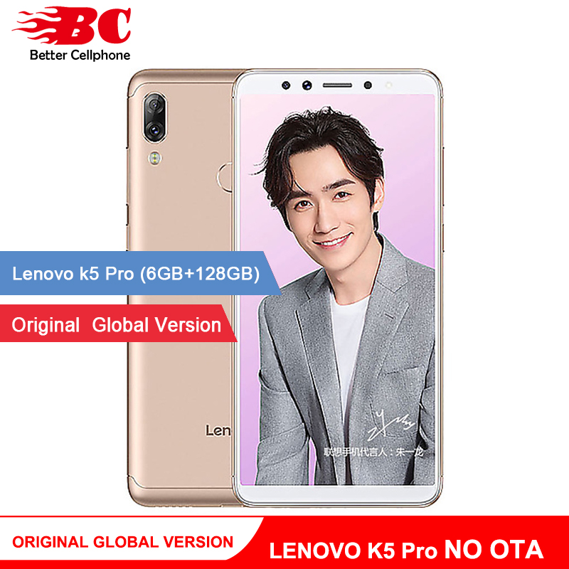 D'origine multi-langue Version L38041 K5 Pro 5.99 pouces 4050 mAh 6 GO de RAM 128 GB ROM SDM636 Octa core Android8.1 Double Caméra LTE