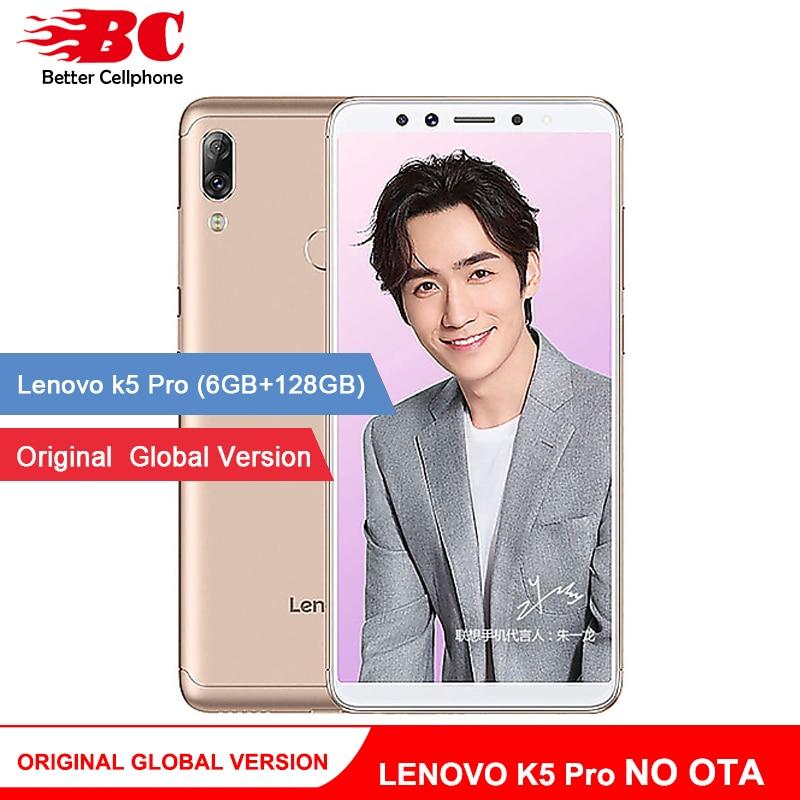 Original Lenovo K5 Pro Smartphone multi-langue Version L38041 5.99 pouces 4050 mAh 6 GO de RAM 128 GB ROM octa Double Caméra LTE
