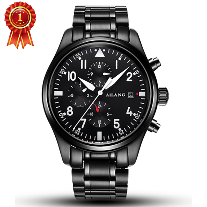 Famous Luxury märke Mode Automatiska Mekaniska Klockor Män Rostfritt Stål Vattentät Kalender Sport Armbandsur Relojes Hombre