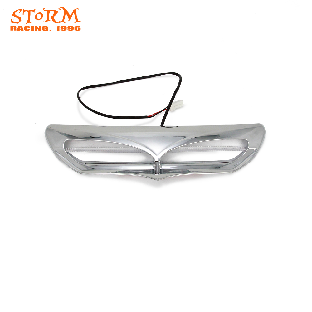 Chrome and Black Batwing Fairing LED Lighted Vent Accent For Harley Touring 2014-2017 14 15 16 17 2014 2015 2016 2017