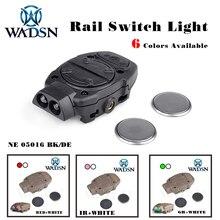 WADSN Princeton táctico casco para softair luz para riel Picatinny con interruptor remoto Luz de cola blanco rojo luces IR WNE05016