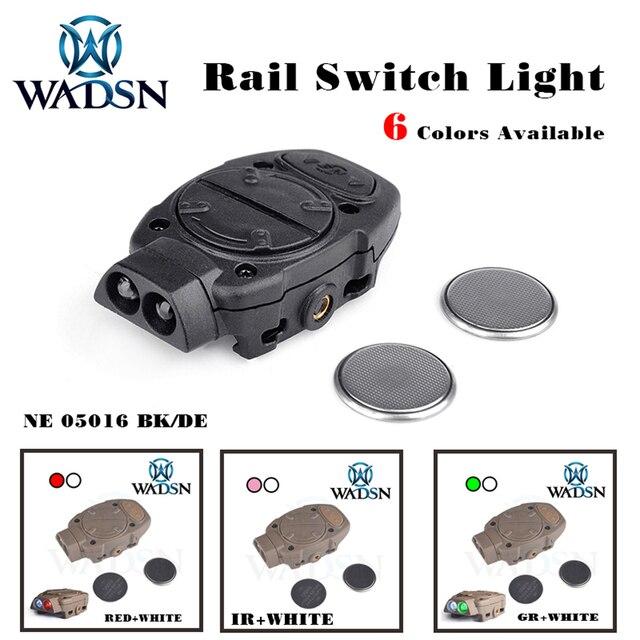WADSN Princeton tactique softair casque lumière pour Picatinny Rail avec commutateur à distance lumière arrière blanc rouge IR lumières WNE05016