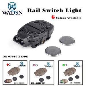 Image 1 - WADSN פרינסטון טקטי softair קסדת אור עבור Picatinny רכבת עם מרחוק מתג אור זנב לבן אדום IR אורות WNE05016