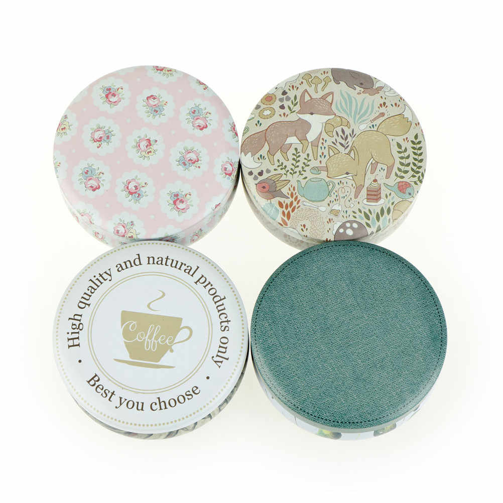 Candy Jewelery Storage Container Sundries Organizer Decorative Gift Packing Iron Box Tea Tins Round Tin Box With Lids