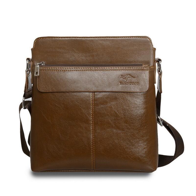 New Men Bag Letter Printed Leather Messenger Bag Retro Designer Handbag Small Business Briefcase Crossbody Bags For Men