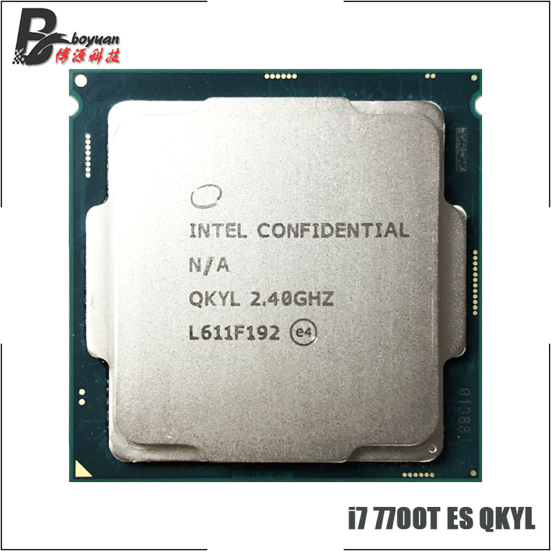 Intel Core i7 7700T ES i7 7700T ES QKYL 2 4 GHz Quad Core Eight Thread