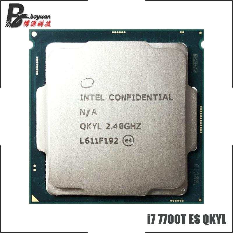 Процессор Intel Core 7700 ES i7 1151 T ES QKYL, четырехъядерный Восьмиядерный процессор 2,4 ГГц, 8 м, 35 Вт, LGA