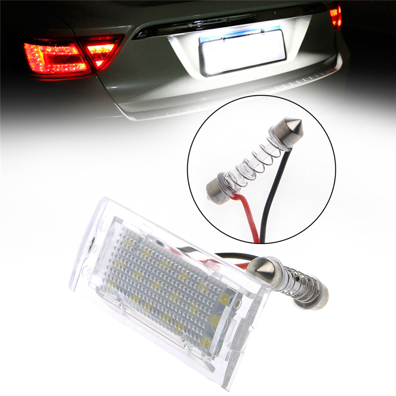 2x LED Number License Plate Light Lamp For BMW E53 X5 1999-2003 X3 Error Free 2x e marked obc error free 24 led white license number plate light lamp for bmw e81 e82 e90 e91 e92 e93 e60 e61 e39 x1 e84