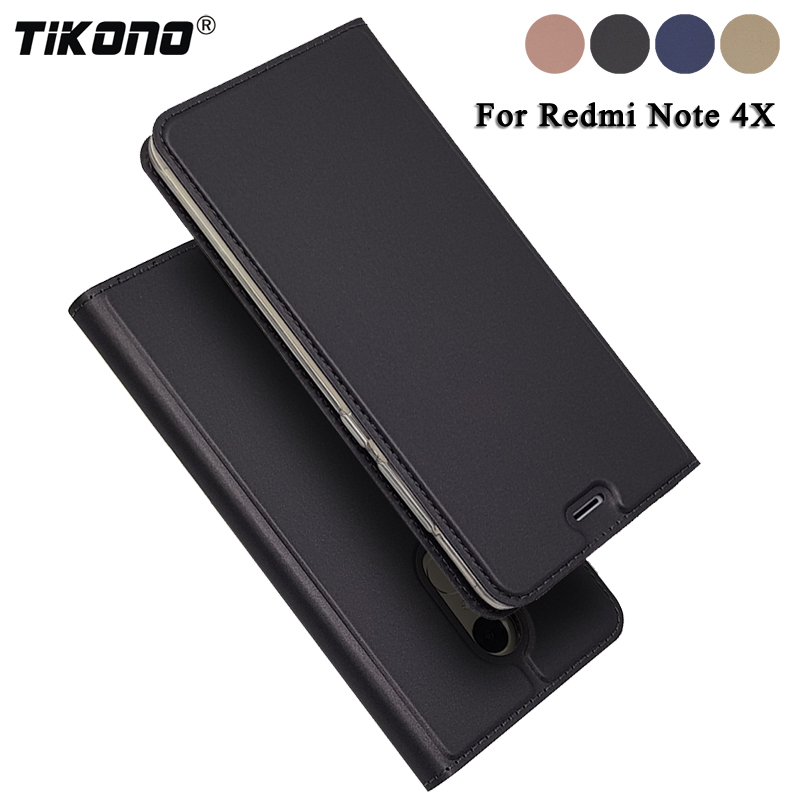 Tikono для Xiaomi Redmi Note 4x Чехол Флип кожа ультра тонкий Телефонные чехлы для Xiaomi Redmi Note 4x роскошные принципиально