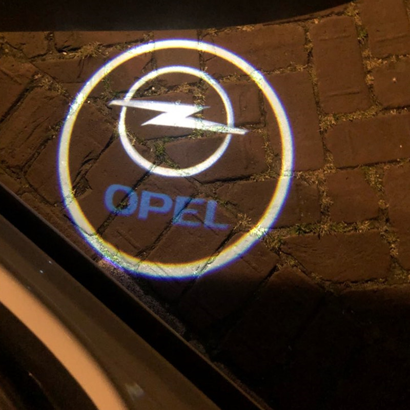 2x LED Door Logo Light Projector Courtesy Ghost Shadow Welcome Lamp For Opel Insignia