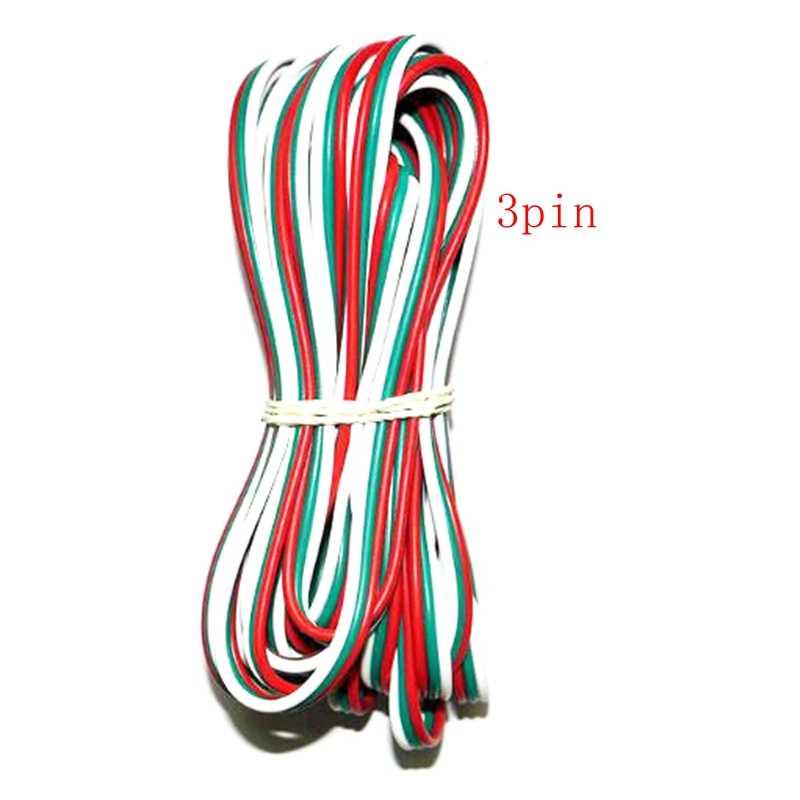 5 ~ 100 metrów 2pin 3pin 4pin 5Pin 6pin 22 AWG rozszerzenie kabel elektryczny drut złącze Led do 5050 WS2812 RGBW RGB LED CCT mieszania