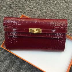 Kafunila العلامة التجارية الشهيرة جلد طبيعي مخلب المرأة محفظة نقود معدنية على شكل حقيبة يد غطاء جواز سفر محفظة طويلة محفظة حمل بطاقات الموضة
