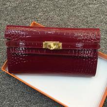 Kafunila famous brand Genuine Leather Clutch Women Bag Coin Purse Handbag Passport Cover Long Wallet Fashion Card holder wallet цена