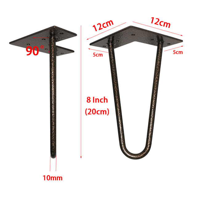 8 Inch Tall Hairpin Legs For Cabine And Bed Furniture Set Of 4 2