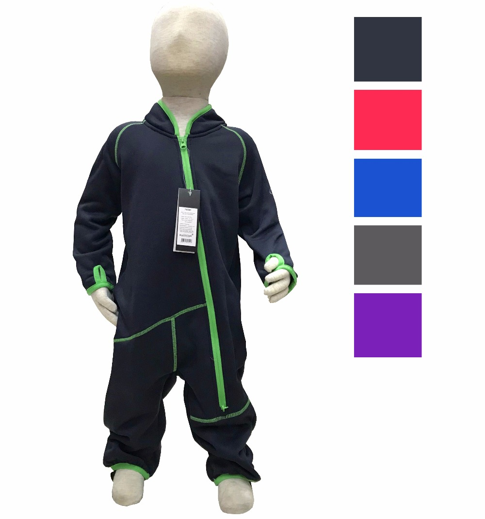 Fleece Warm Jumpsuit   Rompers   Boys Girls Winter   Romper   Kids Long Sleeve Body Suits Free Shipping 1612