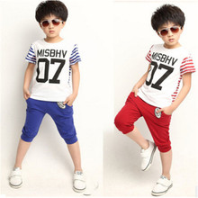 baby summer sport suite boy clothing sets for boys t shirts and shorts baby children clothing