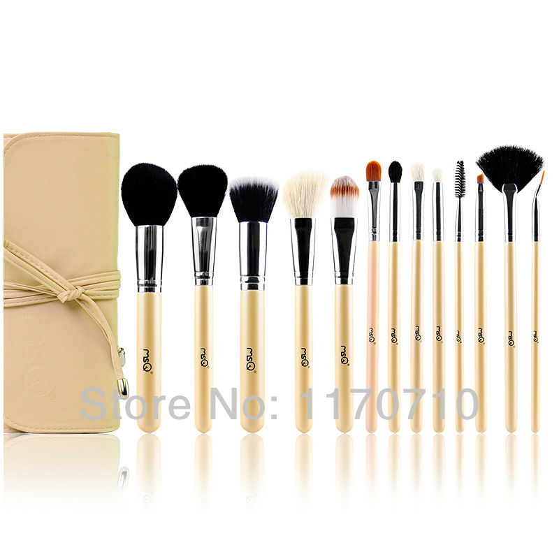 FREE SHIPPING! Best Quality Goat Hair Professional Makeup Brush Set 13PCS/Set Including a Deluxe Leather Bag! best new product on sale 30% 750ml brazilian keratin hair treatment hair free shipping