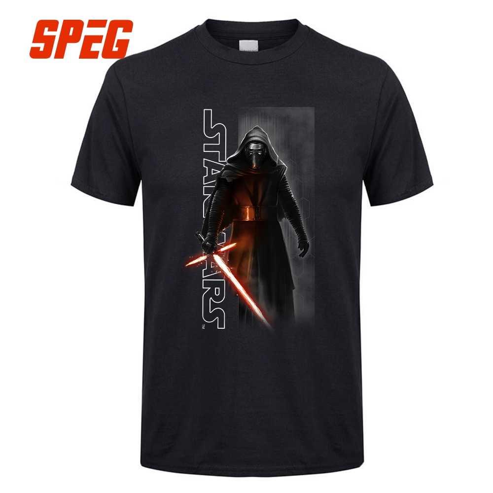 d88a5016 SPEG Star Wars Episode VII 7 T-shirt Men The Force Awakens Kylo Ren Shadows
