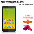 Screen Protector Tempered Glass For Xiaomi Redmi 2 9H 0.33mm 2.5D Anti Scratch Screen Protective Film For Xiaomi Redmi2 A Gift