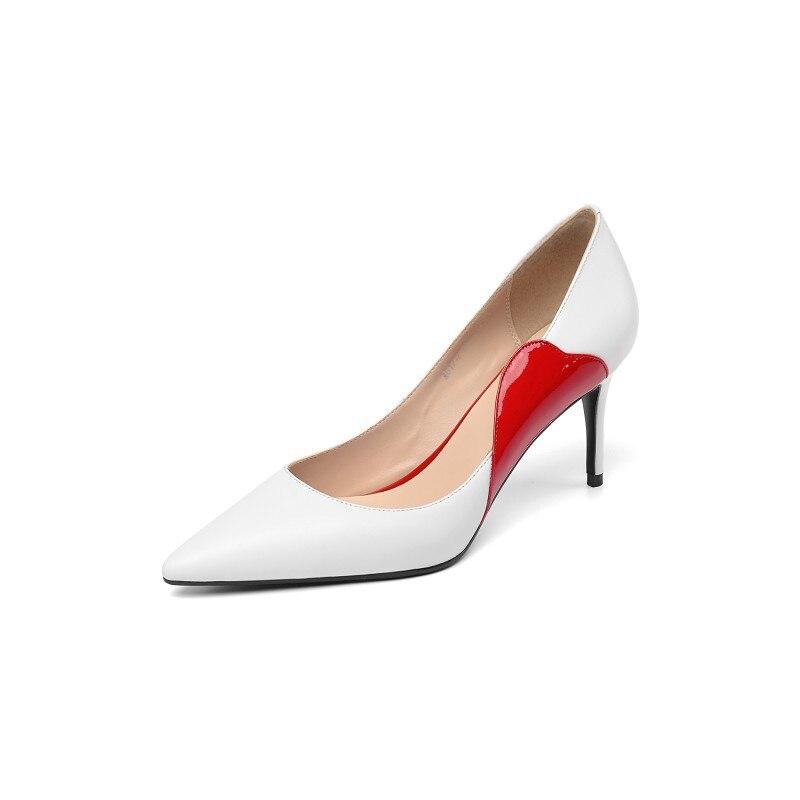 Las Blanco Nueva Otoño Mujer Primavera Estilete Tacón 0406 De 2019 Del Zapatos Mujeres Alto Y wfxaRq1On