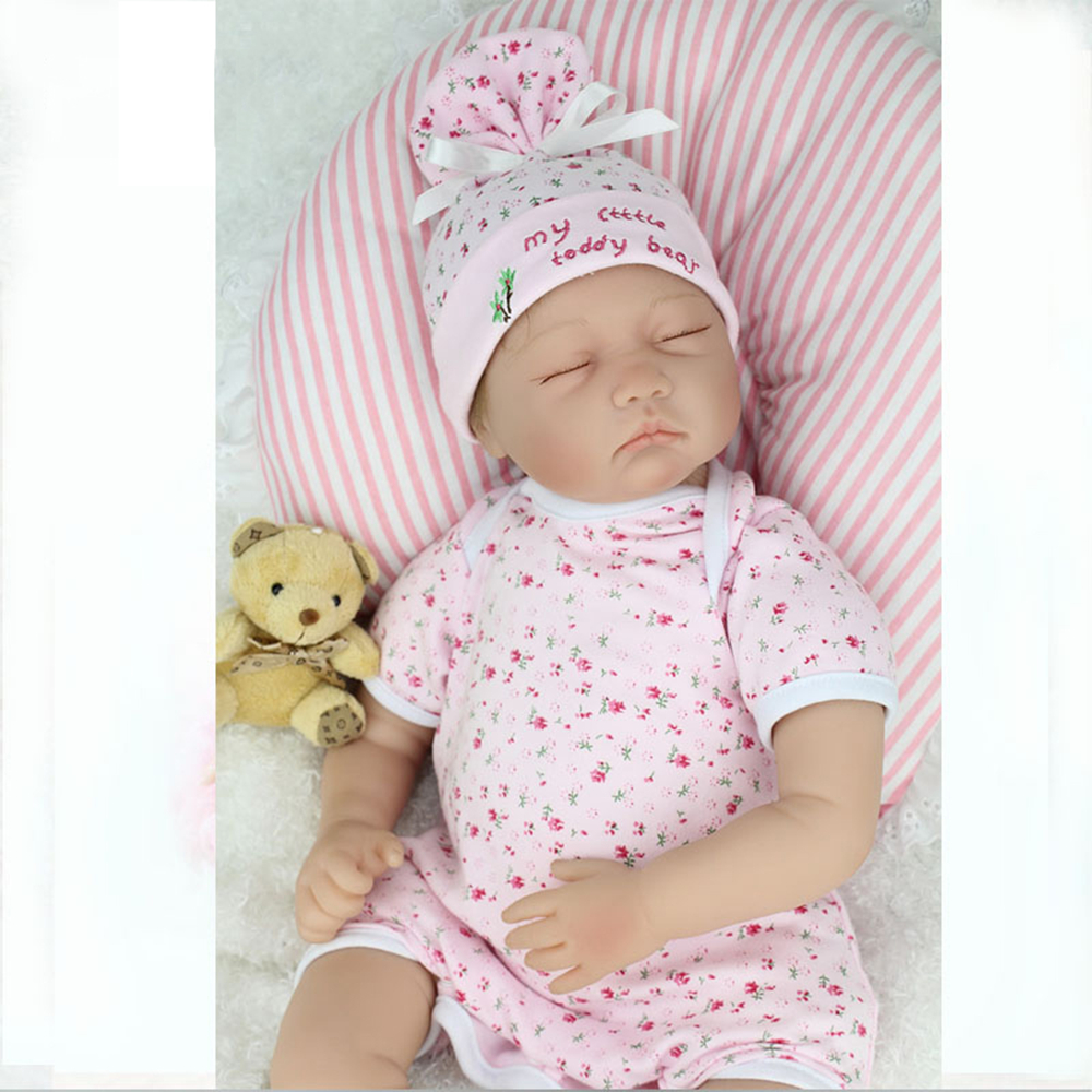 55cm Lifelike Soft Silicone Reborn Baby Doll Fashion kids Playmate Gift For Girls  Baby Alive Soft Toys For Doll Bebe Reborn