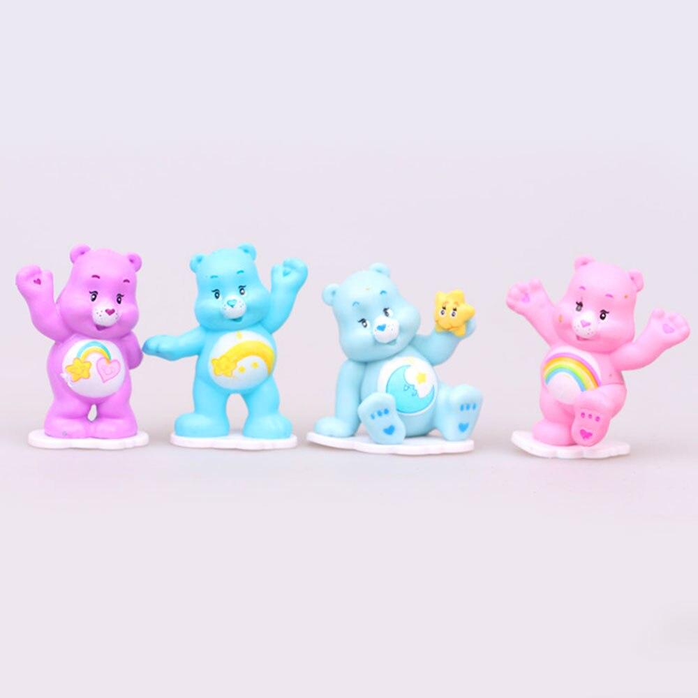 12 шт./компл. DIY Медведь фигурку милые животные миниатюрный пейзаж Игрушка Аниме Kawaii Care Bears медведь Best дети игрушечные модели, подарки