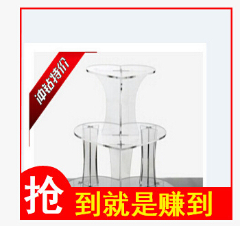 Wedding Decoration 3 Tier Heart Shape Acrylic Wedding Cake Stand Party Decorations