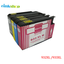 4 Ink Cartridges for HP 932 XL 933 XL Officejet Pro 6100 6600 6700 with Chip for hp 932 933 new refillable ink cartridge with arc chips with ink for hp officejet pro 6100 6600 6700 7100 free shipping