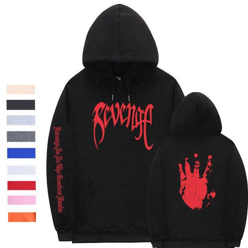 Xxxtentacion Revenge Hoodies Men/Women Sweatshirts Rapper Hip Hop Hooded Pullover sweatershirts male/Women Streetwear
