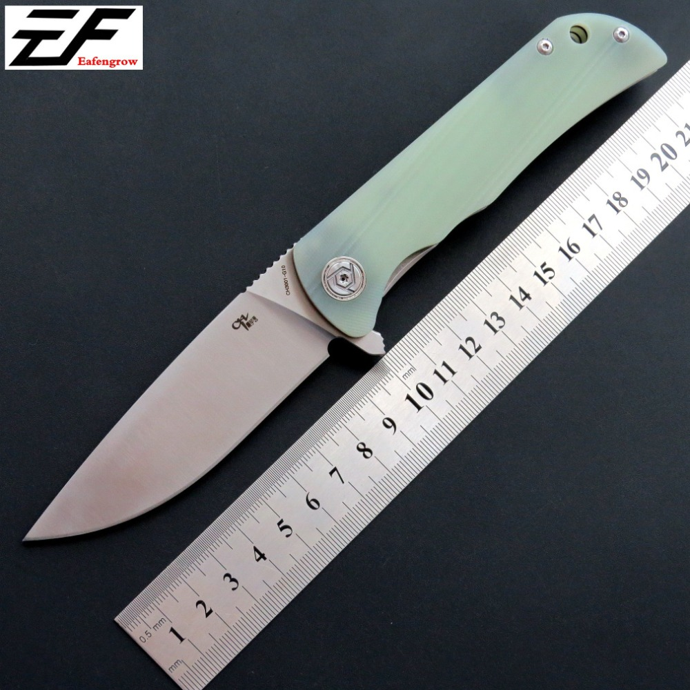 Eafengrow CH3001 Folding Knife D2 Steel Blade G10 Handle camping hunting knife EDC Outdoor Tool Hand Tool knives ch ch3504 g10flippe original folding knife d2 blade ball bearing g10 steel handle hunting knife outdoor survival knife edc
