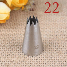 TTLIFE #22 Small Size Open Star Icing Nozzle Piping Tip Stainless Steel Cake Decor Tips Pastry Tools Bakeware
