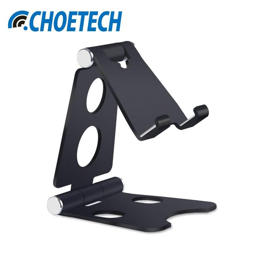 CHOETECH Desk Mobile Phone Holder Stand Foldable Mini Mount Holder Desktop Phone Stand For iphone8 For Samsung Cellphone Tablets
