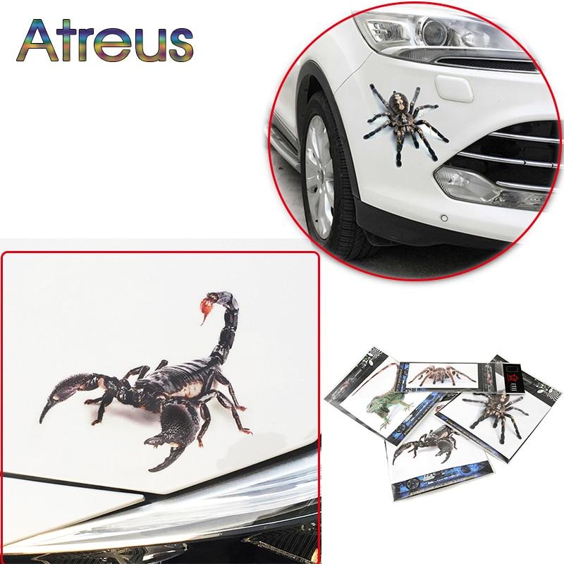 Atreus 3D Cool Car Styling Animal Stickers Waterproof For Toyota Corolla Seat Leon 3 Jeep Fiat Skoda Fabia Rapid Renault Duster