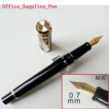 2020 modelo Wing Sung 698 pistón pluma negra M Nib (0,7mm) Papelería de negocios suministros de oficina y Escuela regalo de escritura