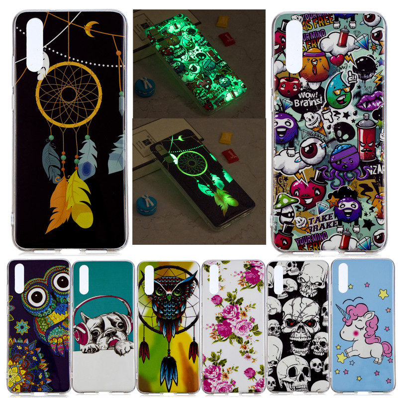 Fitted Cases Amicable Huawei P20 Case Cover Huawei P20 Back Cover Silicone Edge Fabric Protect Case Coque Luminous Original Huawei P 20 P20 Tpu Case Be Friendly In Use Phone Bags & Cases