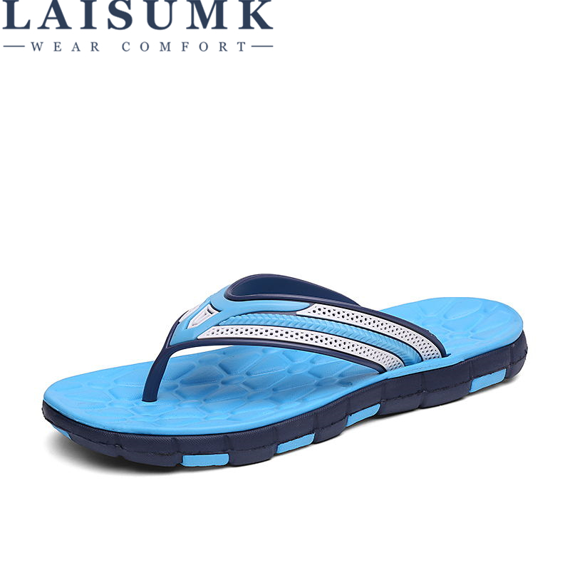 LAISUMK Full Air Cushion Flip Flops Men