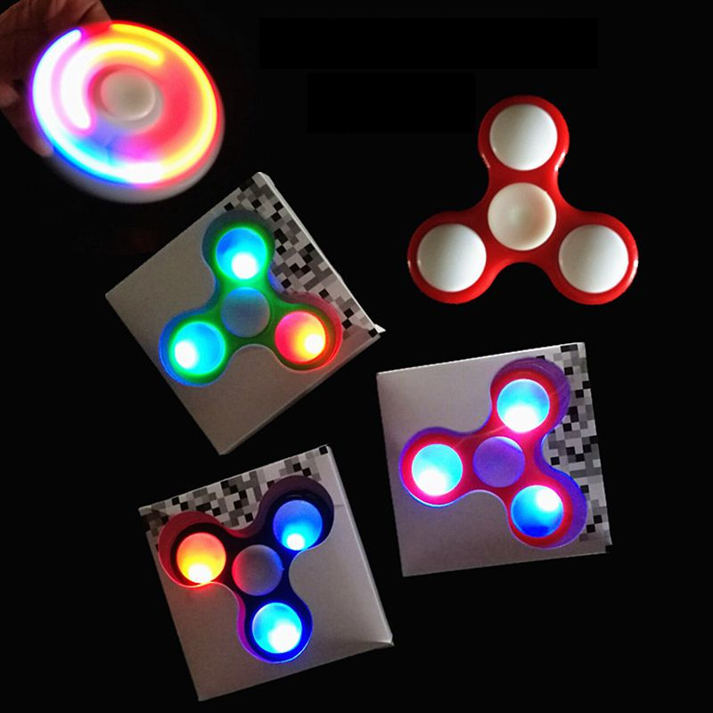 Original LED Light Fidget Spinner Finger ABS EDC Hand Spinner Kids Autism ADHD Anxiety Stress Relief