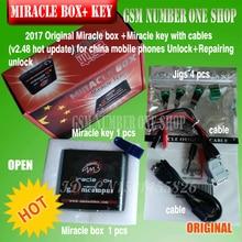 Original nueva caja + Milagro Milagro clave con cables (V2.48 actualización caliente) para teléfonos móviles de china Desbloquear + reparación de desbloqueo