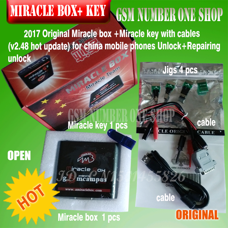 Original new Miracle box +Miracle key with cables (V2 48 hot update