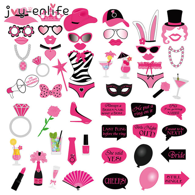 Buy joy enlife 58pcs bachelorette party for Bachelor party decoration supplies