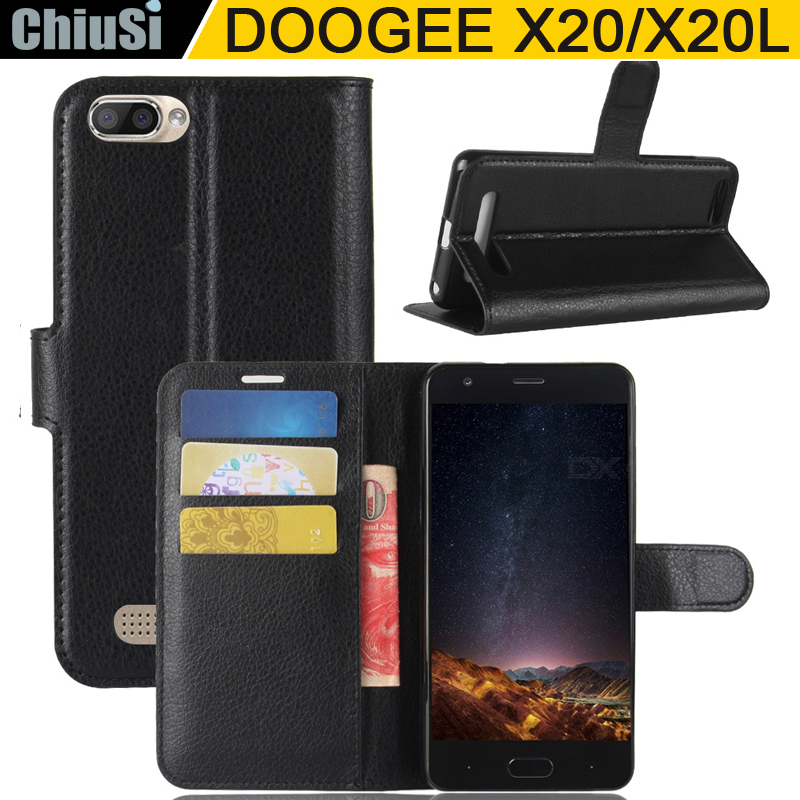 10 Pcs Lot Wallet PU Leather Case Cover For DOOGEE X20 X20L Flip Protective Phone Back