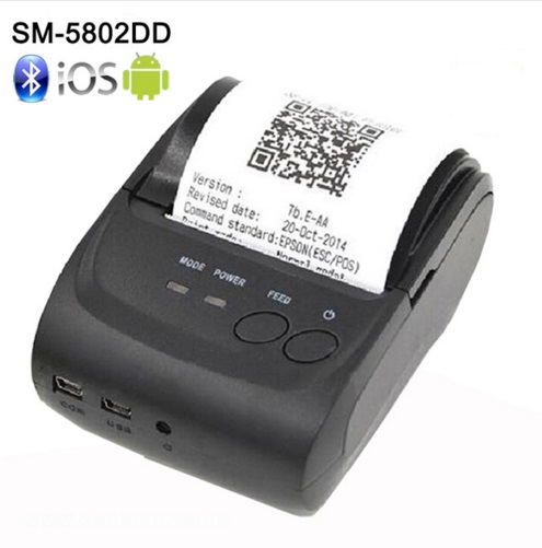 ZJiang ZJ-5802LD Mini Portable Rechargeable Android Bluetooth 58mm Thermique Imprimante Ticket pour Restaurant Supermarché