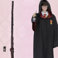 Stock Hot Sale Hufflepuff Ravenclaw Slytherin Gryffindor Cloak Cosplay Costume With Magic Wand From Harry Potter