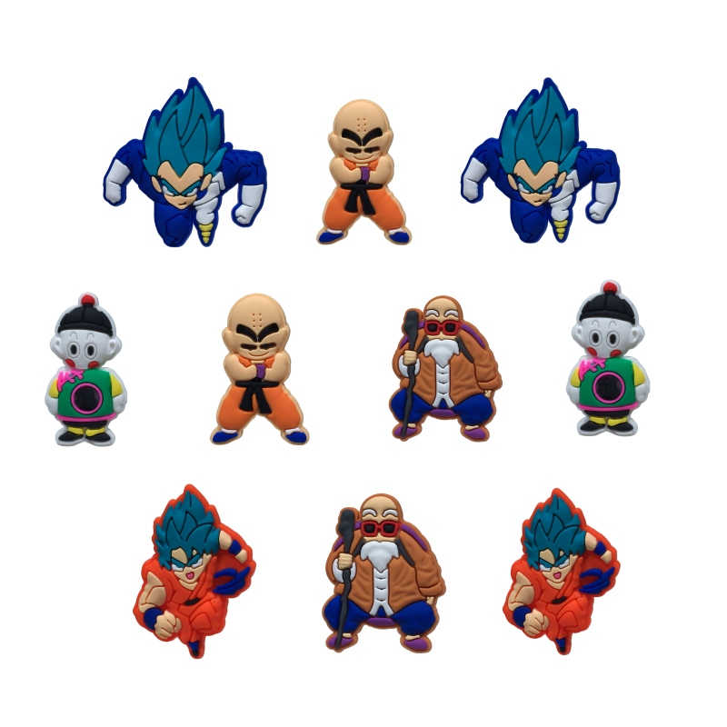 10Pcs Dragon Ball PVC Shoe Charms Shoe Buckle Accessories For Croc Decor For Bracelets With Holes Children Party Gift