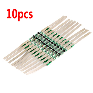Image 5 - 10pcs 3.7V 3A Li ion Lithium Battery 18650 Charger Over Charge Protection Board With Solder Belt #246061