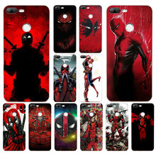 167 H Legal Deadpool Marvel Herói Suave Silicone Tpu Tampa Da Caixa do telefone para huawei Honra 9 Lite 10 p 9 10 lite