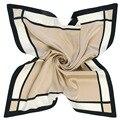 60 СМ Х 60 СМ Супер красивый чистый цвет полосы сетки шарфы и шали женский из шеи Женщины шарфы аксессуары A094