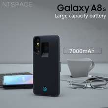 NTSPACE Battery Charger Cases for Samsung Galaxy A8s Power Case 7000mAh Ultra Slim Bank External Charging Cover